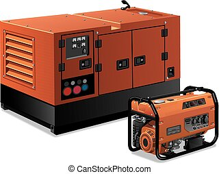 illustration of power generators