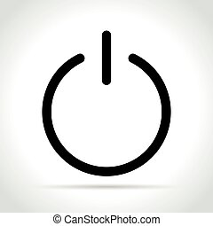 power icon on white background