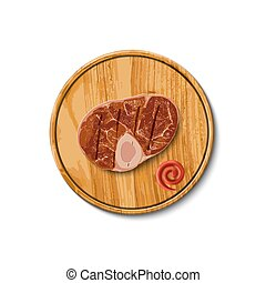 beef steak on cutting board
