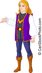Prince charming - Illustration of Prince charming presenting
