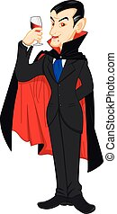 prince dracula  - illustration of prince dracula