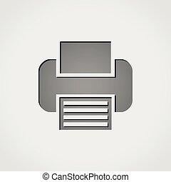 print grey icon
