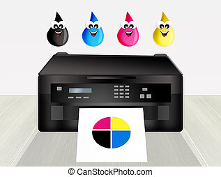 illustration of printer cartridges