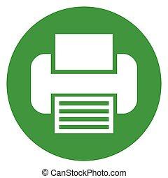 printer green circle icon