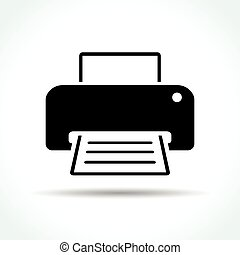printer icon on white background