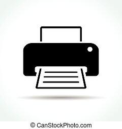 printer icon on white background