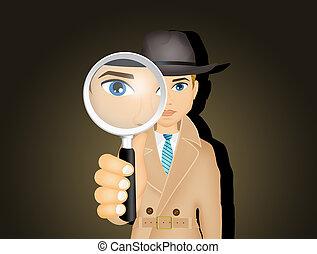 illustration of private detective
