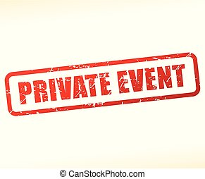 private event stamp on white background