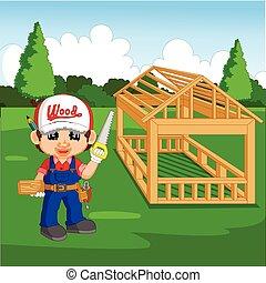 professional carpenter cartoon