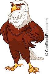 Illustration of proud American eagle