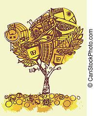 stylized tree, element