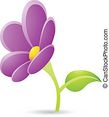 Purple Flower Icon - Illustration of Purple Flower Icon...