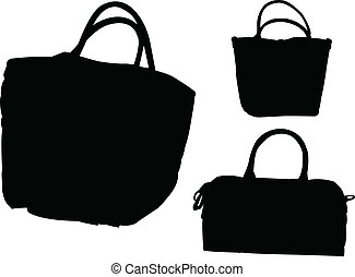 purses collection - vector - illustration of purses...