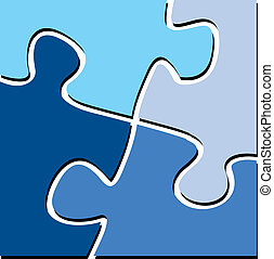 puzzle pieces - illustration of puzzle pieces