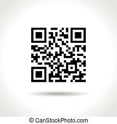 qr code on white background
