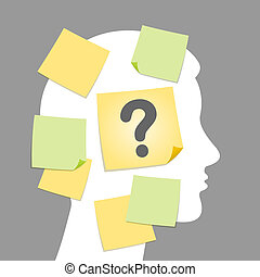 Illustration of question - Vector illustration of...