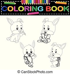 rabbit coloring book