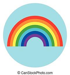 rainbow circle icon