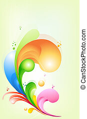 illustration of rainbow colored swirly background..