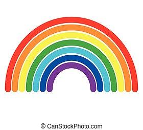rainbow icon on white background