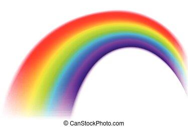 Rainbow on isolated background