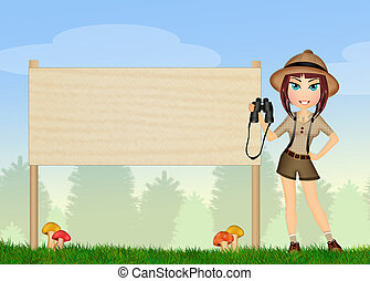 ranger with binoculars