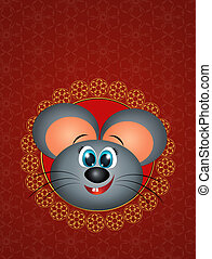 illustration of rat celbrate the Chinese New Year