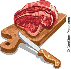 raw sliced meat