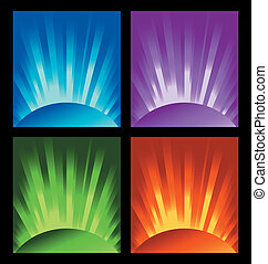 illustration of rays of light