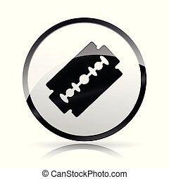 razor blade icon on white background