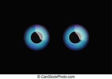 eyes on dark