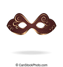 realistic carnival or theater mask isolated - Illustration ...
