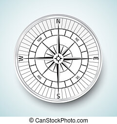 Realistic compas vector icon illustration