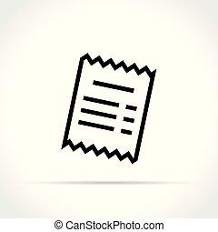 receipt icon on white background