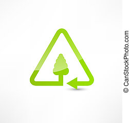 illustration of recycle symbol.
