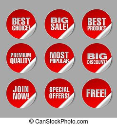advertising discount stickers