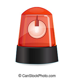 red alarm - illustration of red alarm on white background