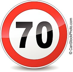 illustration of red and black speed limit sign