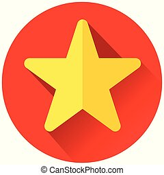 red and yellow star icon