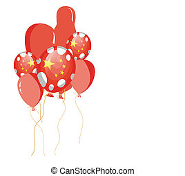 illustration of red balloon of chin