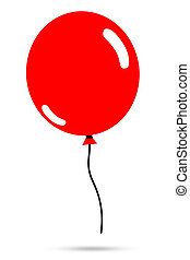 illustration of red balloon