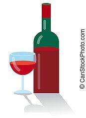 red bottle wine