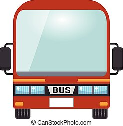 Illustration of red bus