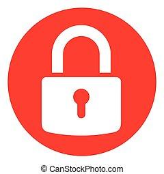 red circle padlock icon