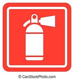 extinguisher icon concept