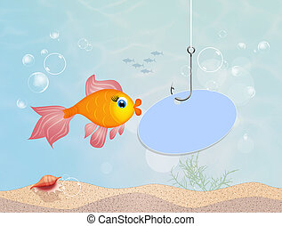 red fish in the sea