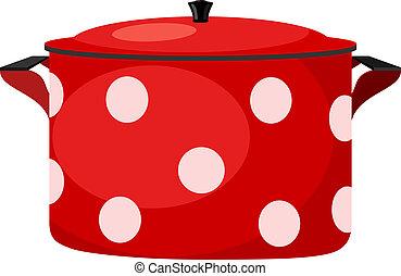 Illustration of red pots. eps10