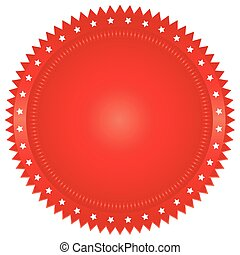 illustration of red seal on white background