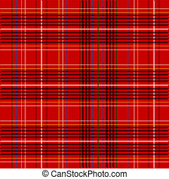 Tartan Fabric Texture - Illustration of Red Tartan Fabric...
