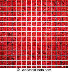 Tile mosaic background - Illustration of red Tile mosaic ...